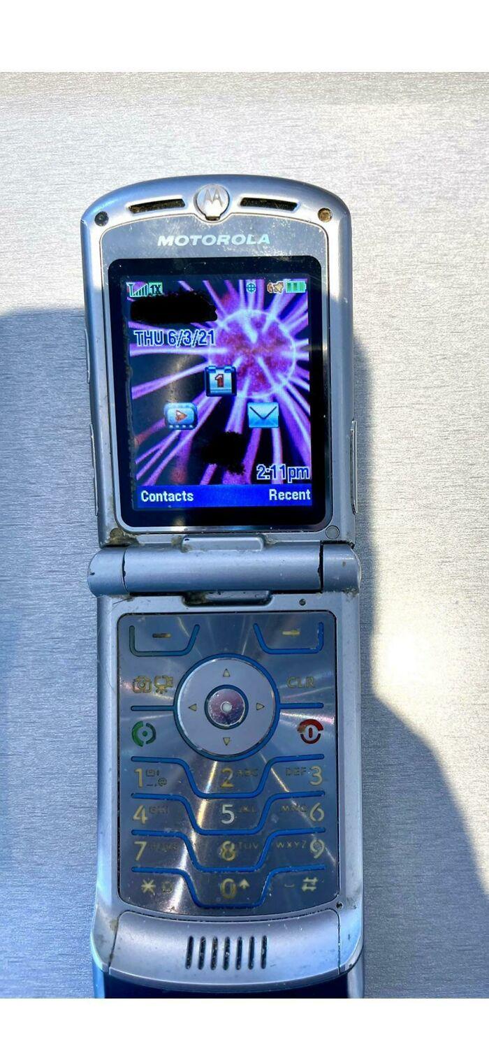 A Customer Of Mine Finally Decided To Upgrade... Motorola Razr, Purchased November 2006