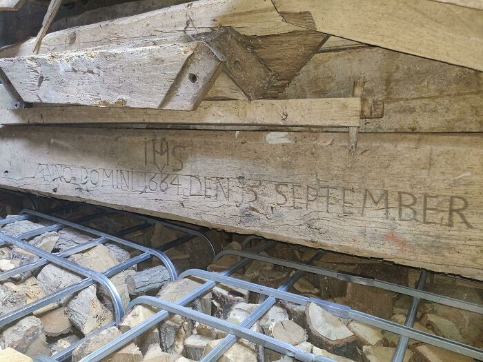 """Restoring The Wooden Beams Of My House And Found This. (More Like """"Buy It For The Next 6 Generations"""")"""