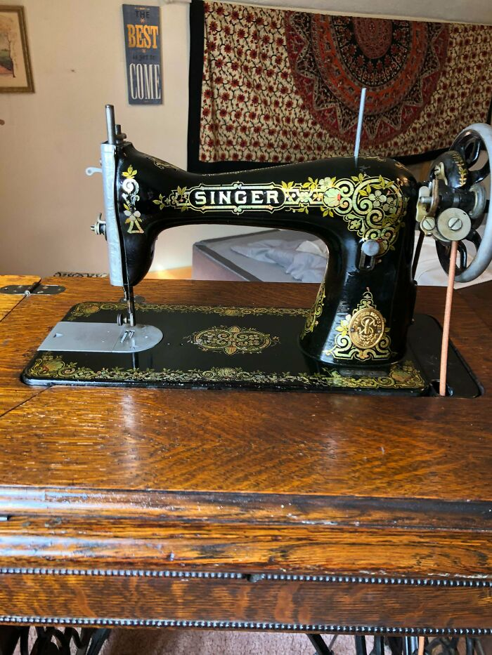 Buy It For Multiple Lives! 1916 Singer 66, My Main Sewing Machine
