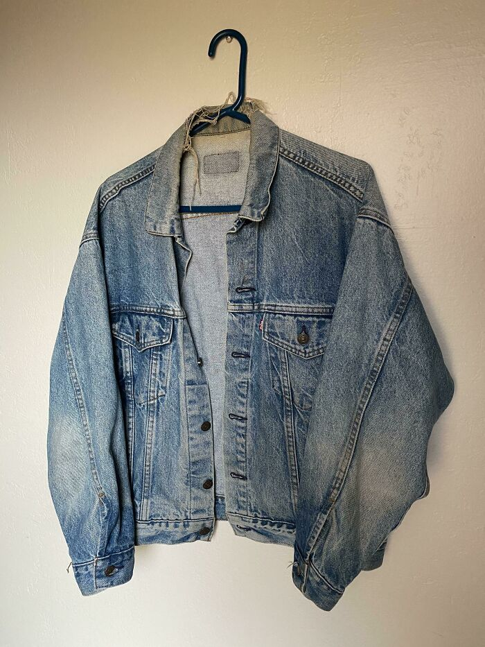 My Dads Levis Jacket From 1980! I've Been Wearing It For About A Year Now