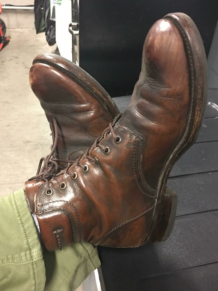 """Frye """"Fulton"""" Leather Boots. Bought In 2010 For $350.00, Worn On Every Date, Family Holiday, And Special Occasion Since. Now, Luck Enough To Wear Them To Work"""