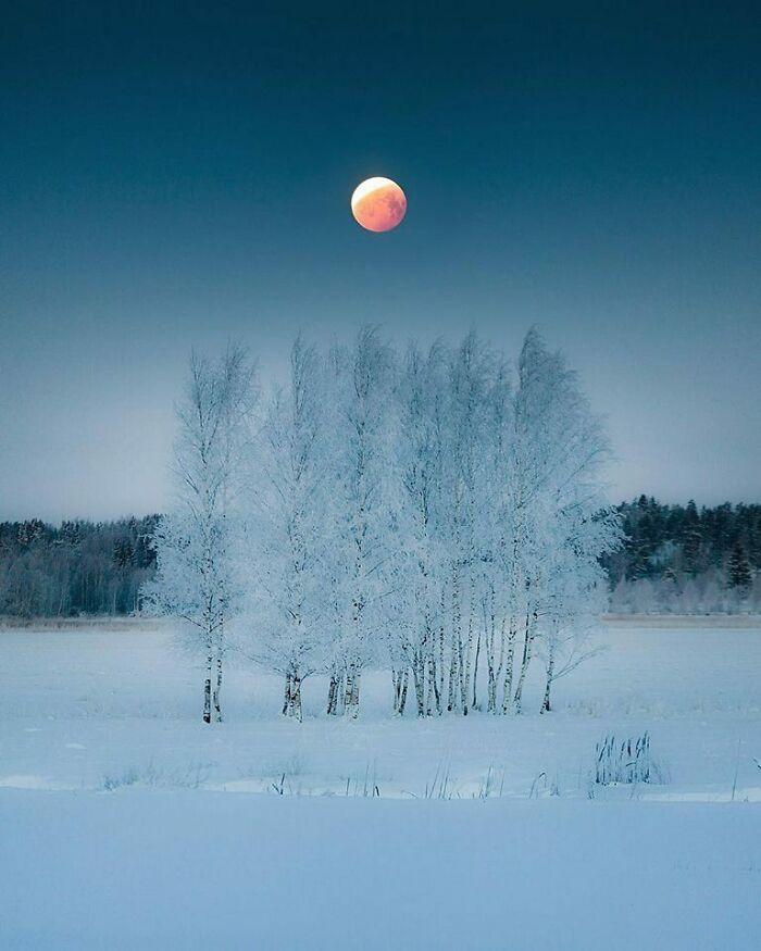 Luna de sangre en Finlandia