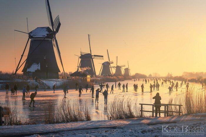 Este fin de semana Holanda parece una pintura de un antiguo maestro