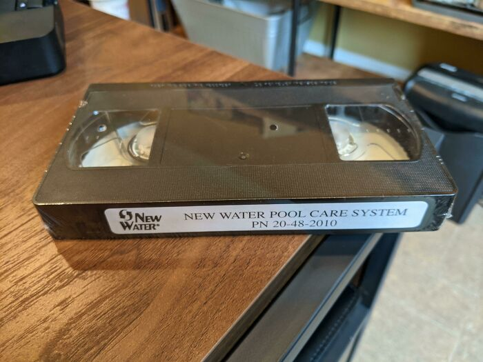 Ordered A New Chlorinator For The Pool, The Instructions Came On VHS