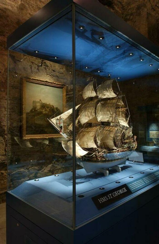 Maqueta del HMS. San Jorge realizada por prisioneros de la Guerra de los Siete Años