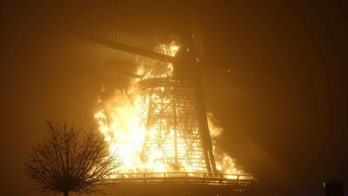 A Functioning Dutch Windmill From 1848 Burned Down