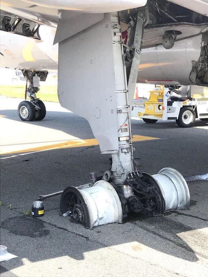 Tires From The United Flight That Declared Emergency During Takeoff. No Injuries