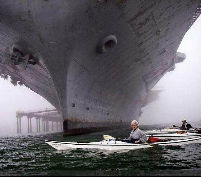 Siempre se olvida lo enormes que son estos supertransportes que construye Estados Unidos