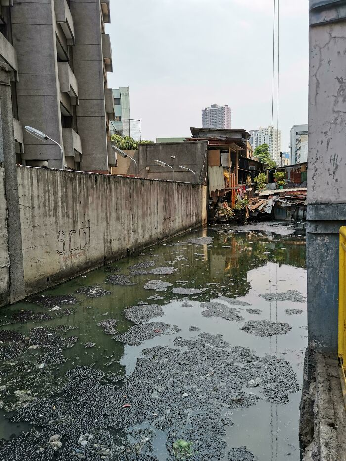 Disgusting Canal Near My Home In Manila. I Wish People Just Would Bother To Care How Our Environment Is Dying Fast