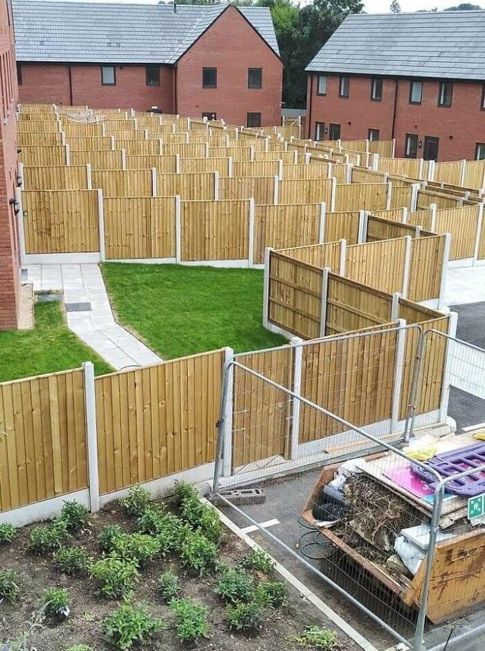 Fencemageddon 2 - The Panelling! Pretty Standard View Of English / Irish Estates