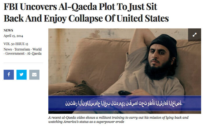 An Article By The Onion In 2014