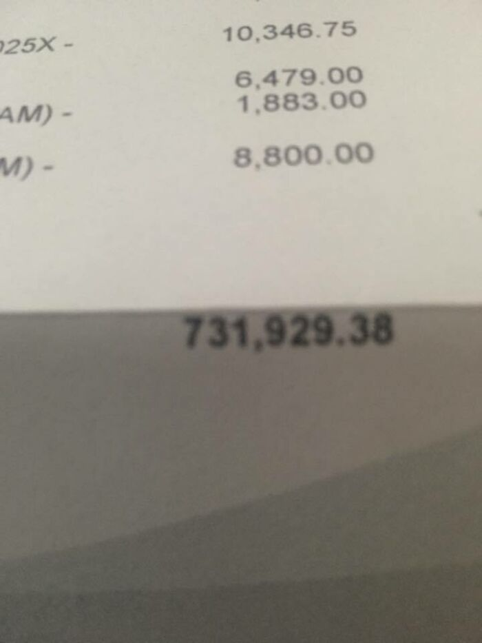 My Buddies Medical Bill For A Month-Long Stay In The Hospital After Being Hit By A Driver High On Heroin