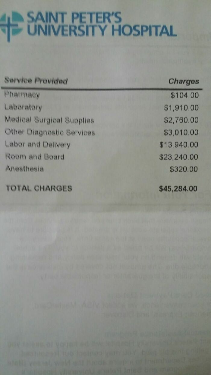 My Hospital Bill For An Uncomplicated Birth