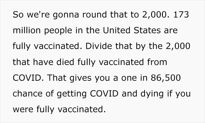 Mom Uses Math To School A Covid Skeptic On The Odds Of Surviving Covid With And Without A Vaccine