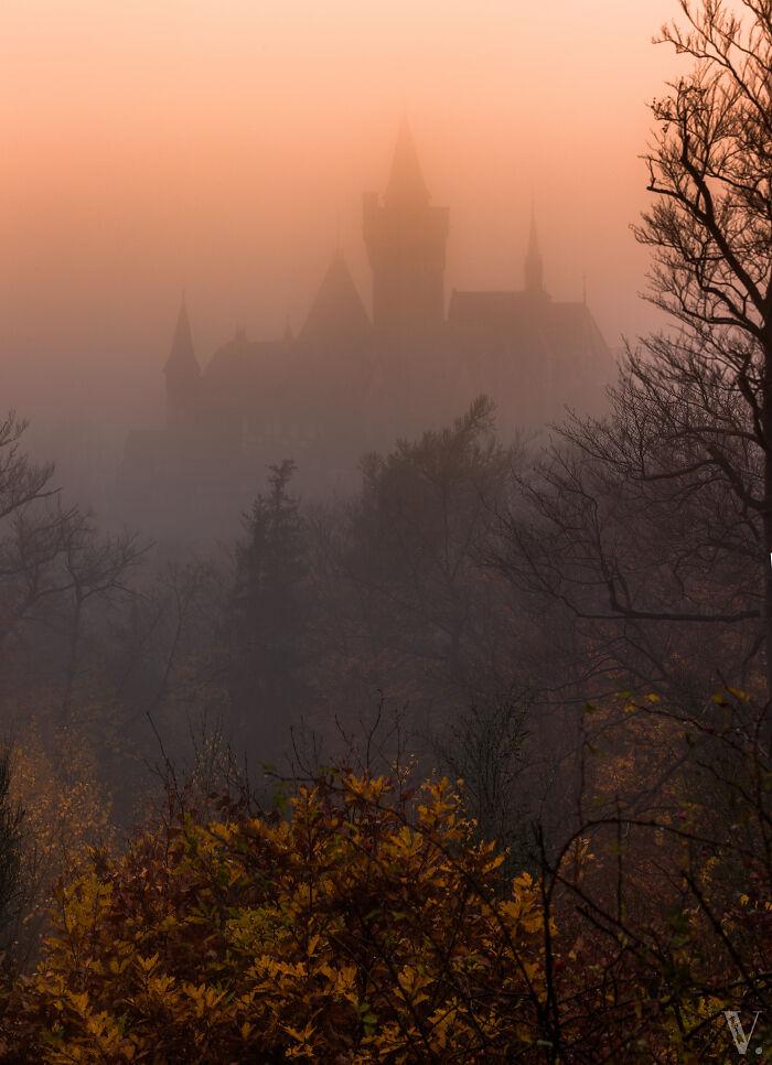 Se necesitó un viaje épico de 4 horas antes de llegar a un castillo nebuloso, Wernigerode, justo antes del amanecer