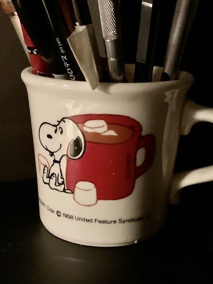 My Grandmother Gave Me My Snoopy Mug In 1976, When I Was Five Years Old.