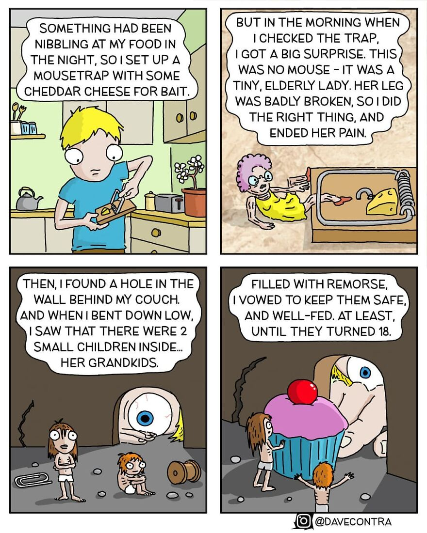 Artist Makes Comics With Morbid Humor And Politically Incorrect