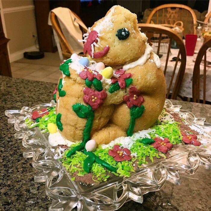 Easter Bunny Bundt Cake