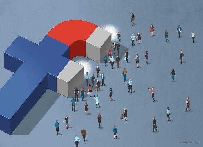 Las redes sociales dividen a la gente
