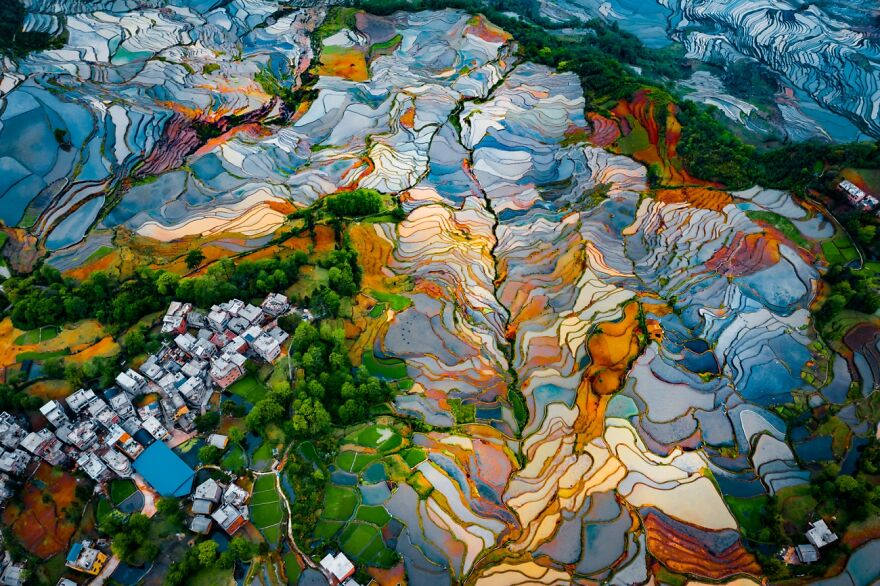 Duoyishu Terraces By Ran Tian (Highly Commended In Abstract Category)