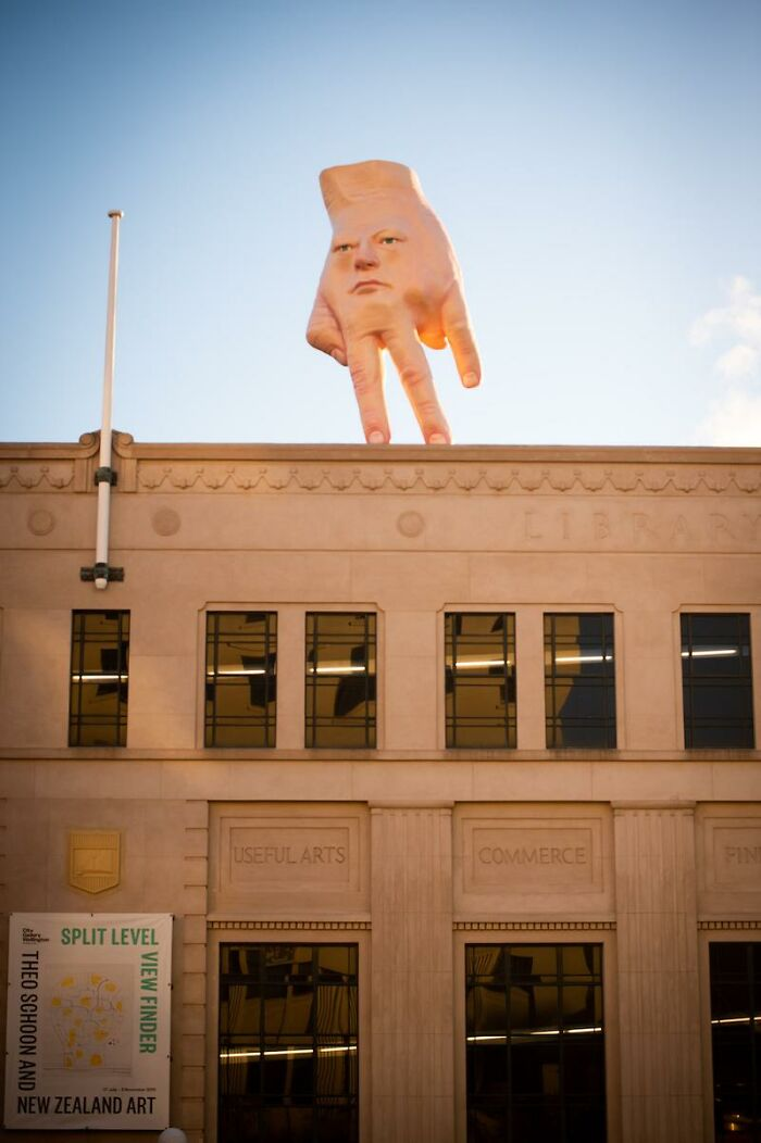 This Is Above The Art Gallery In My City. Been 2 Years And I'm Still Unsure What To Think Of It