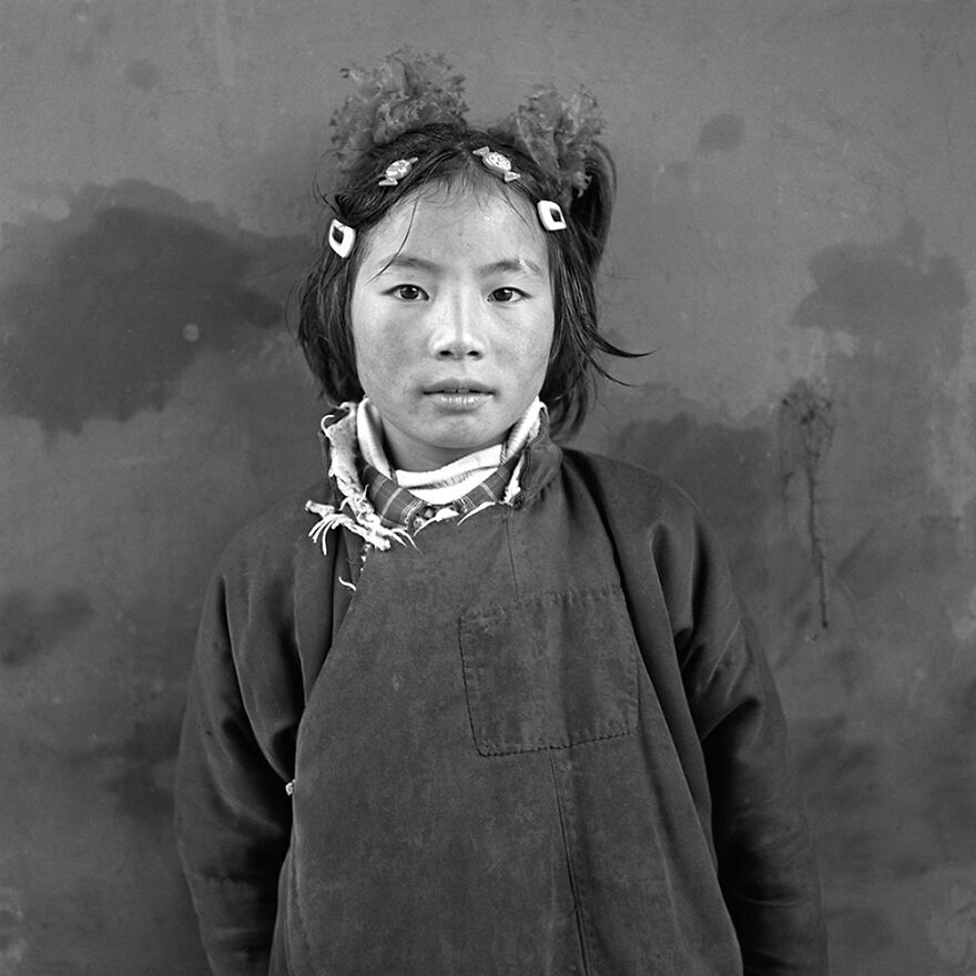 Young Tibetan Girl By Larry Snider