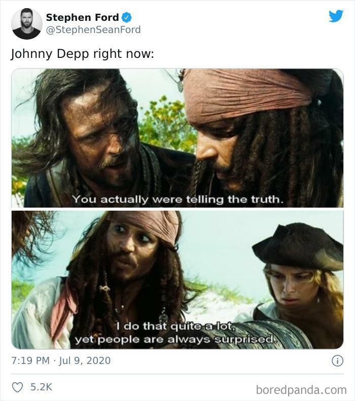 Johnny Depp Called This One From The Second Pirates Movie