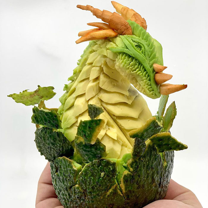 This Artist Created 22 Carving Arts From Avocados