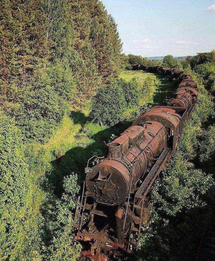 Abandoned Train In Siberia