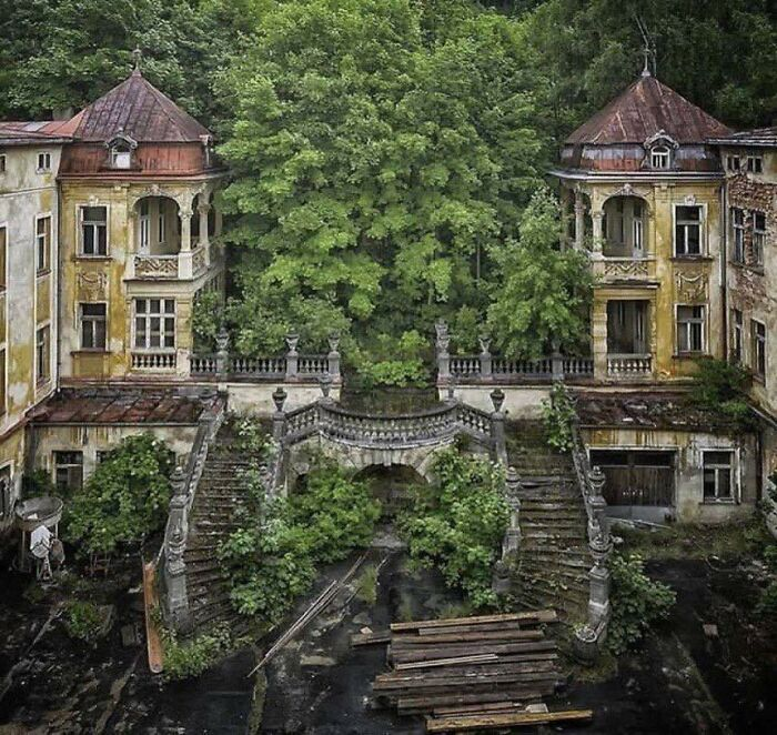 Abandoned Spa Town In The Czech Republic