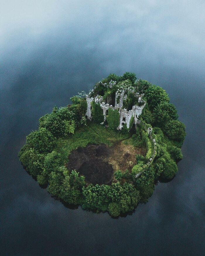 Mcdermott's Castle, Abandoned Fairytale Irish Castle In The Middle Of A Lake, County Roscommon, Ireland