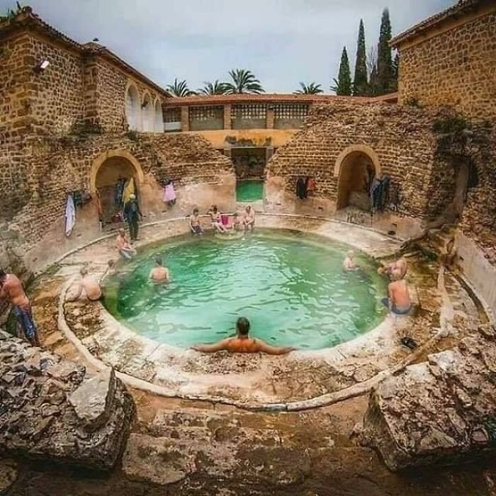 A Roman Bathhouse Still In Use After 2,000 Years In Khenchela, Algeria