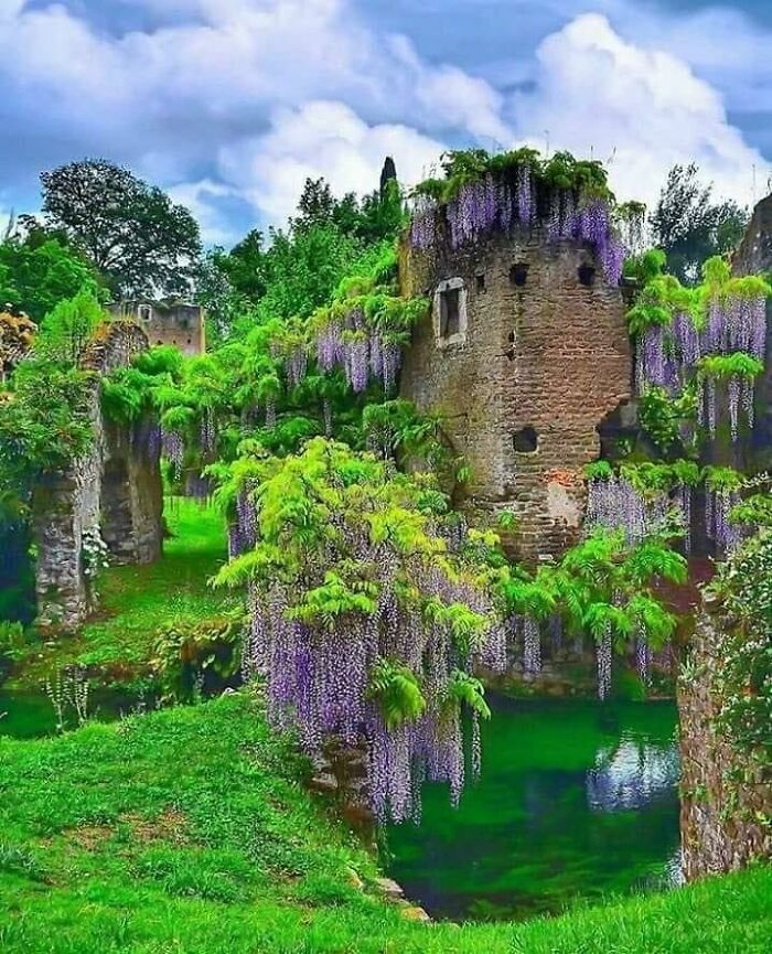The Garden Of Ninfa Is A Landscape Garden In The Territory Of Cisterna Di Latina, In The Province Of Latina, Central Italy