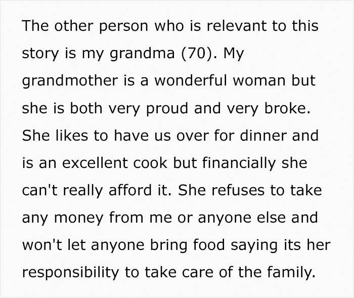 Guy Asks His Girlfriend Not To Eat So Much At His Grandma's House, Asks If He's In The Wrong After She Yells At Him