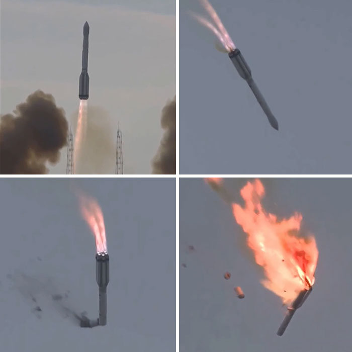 Failed Rocket Launch