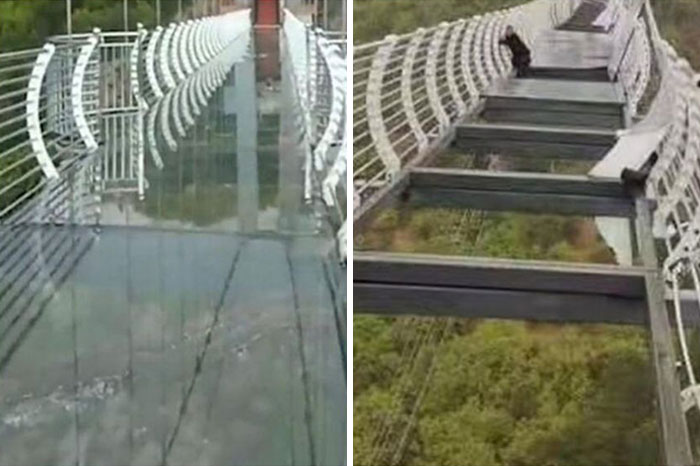May 7, 2021: Tourist Trapped 100m High On Chinese Glass Bridge After Floor Panels Blow Out