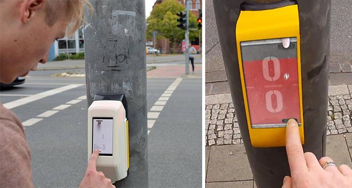 En Alemania puedes jugar al pingpong con la persona en el semáforo de enfrente