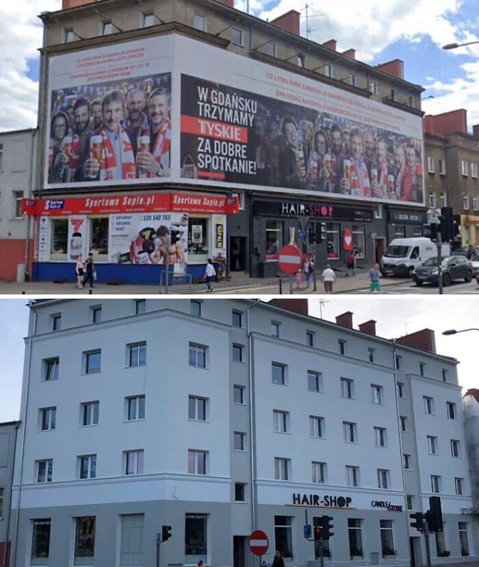 En Polonia se están librando poco a poco del exceso de carteles publicitarios