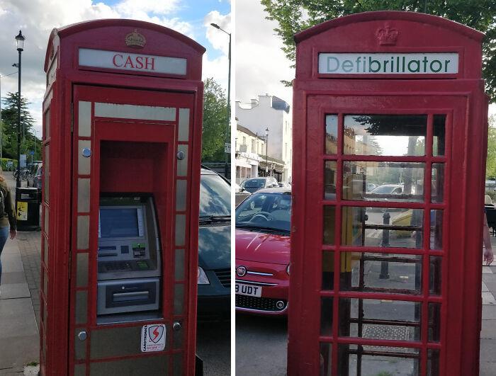 Cabinas de teléfonos británicas recicladas y reconvertidas