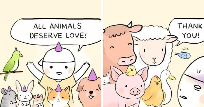 These 81 Comics About Animal Abuse And Factory Farming By Joan Chan Will Make You Think Twice