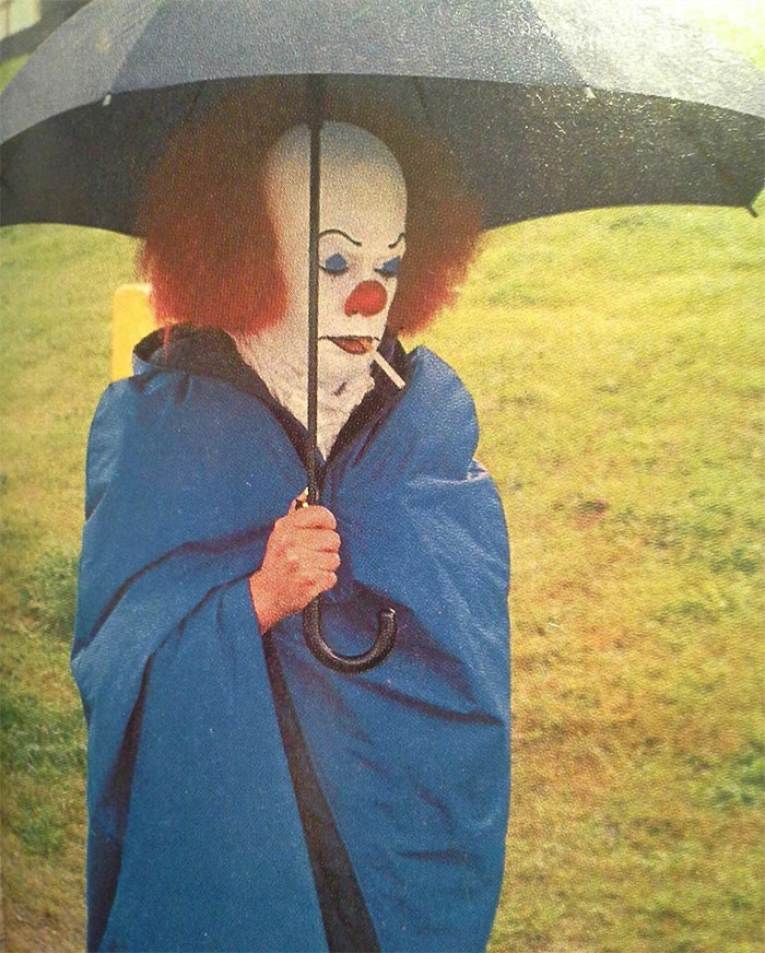 Tim Curry On The Set Of 'It' (1990)