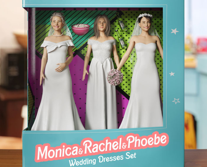 The Toy Zone Hired A Designer To Create 'Friends' Barbie Dolls, And They Delivered