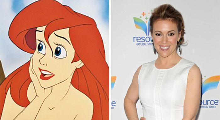 Ariel In The Little Mermaid Was Based On Alyssa Milano