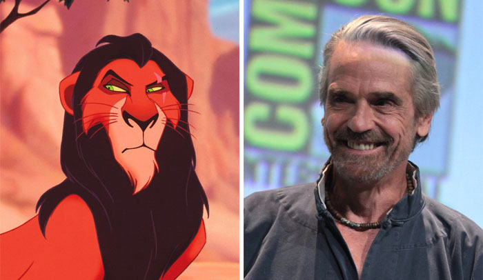 Scar In Lion King Was Based On Jeremy Irons