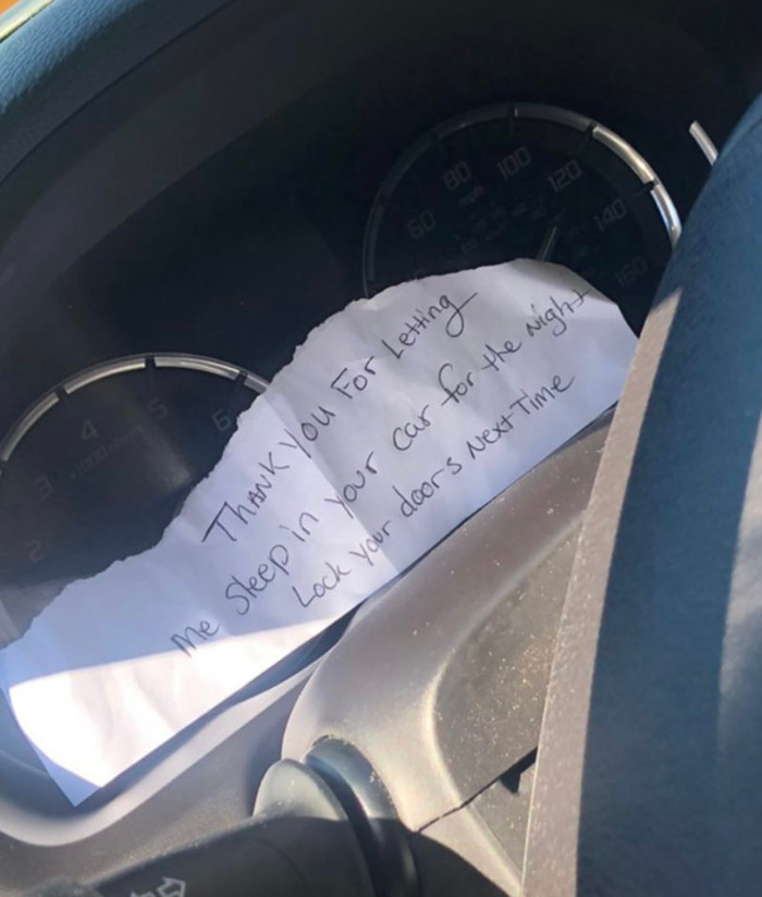 At Least He Left A Note There