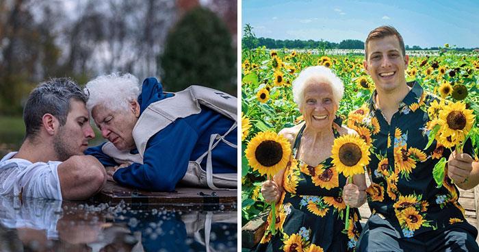 Esta abuela de 95 años y su nieto muestran con sus hilarantes disfraces que no existe un límite de edad para divertirse (22 fotos nuevas)