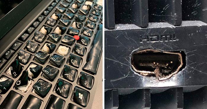 Estos empleados de soporte técnico comparten los peores casos que han visto en su trabajo (40 nuevas fotos)