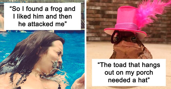 141 Of the Funniest Frog Pics