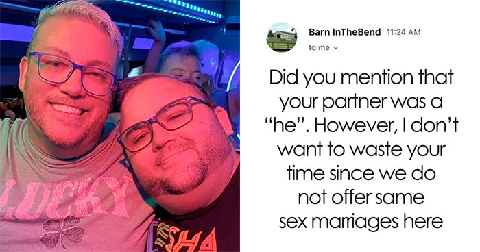 Couple Exposes Wedding Venue That Rejected Them Because They Are Gay And It Backfires