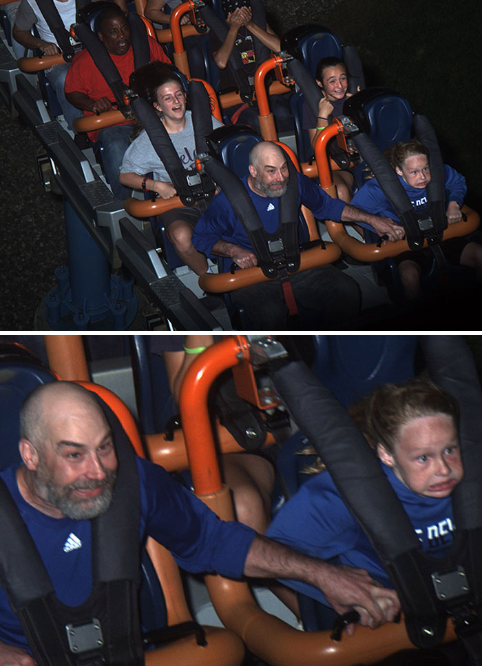 Oh, I Bought This Coaster Picture. My Son And I In The First Row On Fahrenheit 97 At Hershey Park